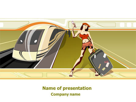Cars and Transportation: Traveler Free PowerPoint Template #07877