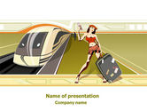 Cars and Transportation: Templat PowerPoint Gratis Wisatawan #07877