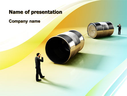 Business: Communication Devices PowerPoint Template #07878
