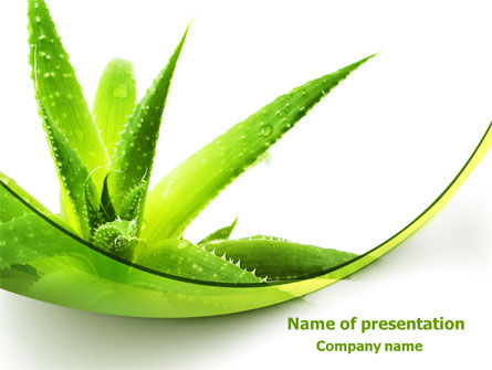 Aloe PowerPoint Template, 07880, Nature & Environment — PoweredTemplate.com