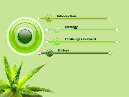 Aloe PowerPoint Template, Slide 3, 07880, Nature & Environment — PoweredTemplate.com