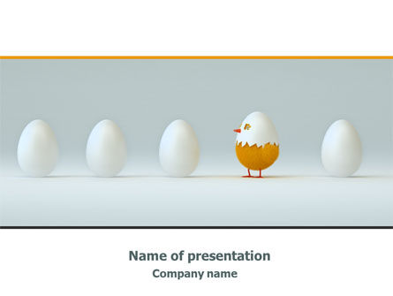 Hatched Chicken PowerPoint Template, 07882, Consulting — PoweredTemplate.com