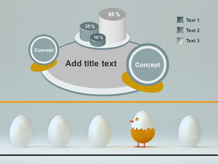 Hatched Chicken PowerPoint Template Slide 6