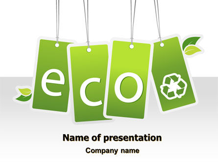 Eco Sign PowerPoint Template, 07883, Nature & Environment — PoweredTemplate.com