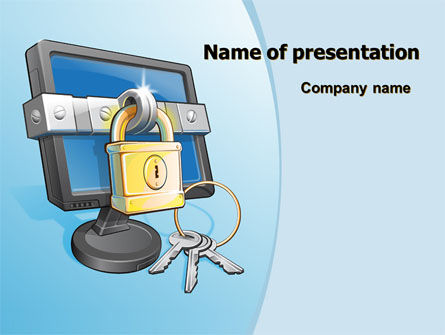 Legal: Computer Security Software PowerPoint Template #07884