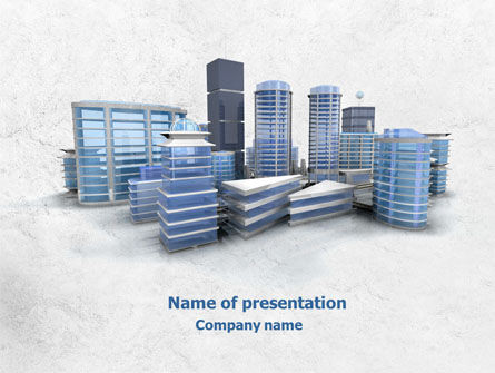 Hi-Tech District PowerPoint Template, 07885, Construction — PoweredTemplate.com