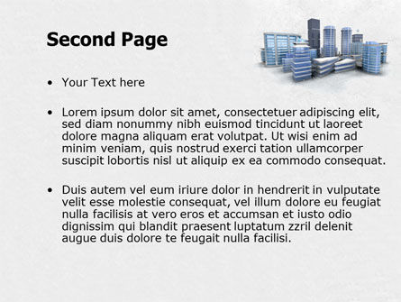 Hi-Tech District PowerPoint Template, Slide 2, 07885, Construction — PoweredTemplate.com