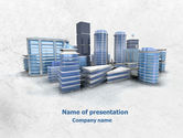 Construction: Hi-Tech District PowerPoint Template #07885