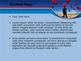 Falling Umbrellas PowerPoint Template#2