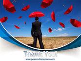Falling Umbrellas PowerPoint Template#20