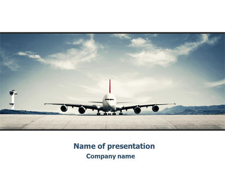 Air Liner PowerPoint Template, 07887, Cars and Transportation — PoweredTemplate.com