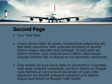Air Liner PowerPoint Template, Slide 2, 07887, Cars and Transportation — PoweredTemplate.com