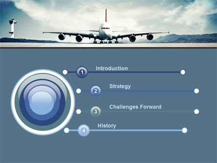 Air Liner PowerPoint Template, Slide 3, 07887, Cars and Transportation — PoweredTemplate.com