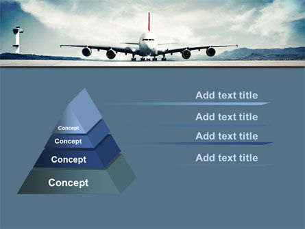 Air Liner PowerPoint Template, Slide 4, 07887, Cars and Transportation — PoweredTemplate.com