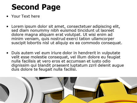 Spinning Gears PowerPoint Template, Slide 2, 07888, Utilities/Industrial — PoweredTemplate.com