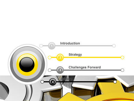 Spinning Gears PowerPoint Template, Slide 3, 07888, Utilities/Industrial — PoweredTemplate.com