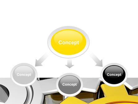 Spinning Gears PowerPoint Template, Slide 4, 07888, Utilities/Industrial — PoweredTemplate.com