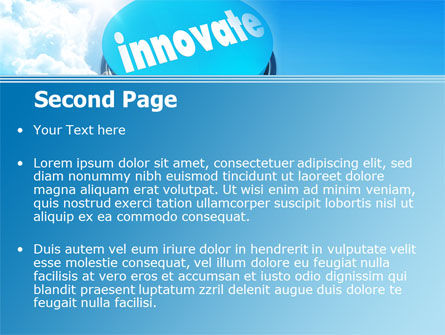 Start Innovation PowerPoint Template, Slide 2, 07889, Technology and Science — PoweredTemplate.com