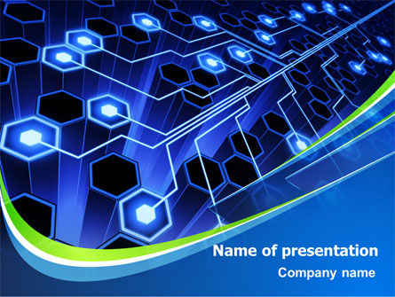 Network Tree PowerPoint Template, 07890, Technology and Science — PoweredTemplate.com