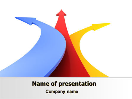 Consulting: Separate Directions PowerPoint Template #07891