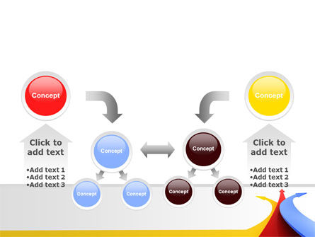 Separate Directions PowerPoint Template Slide 19