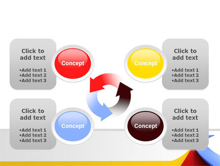 Separate Directions PowerPoint Template Slide 9