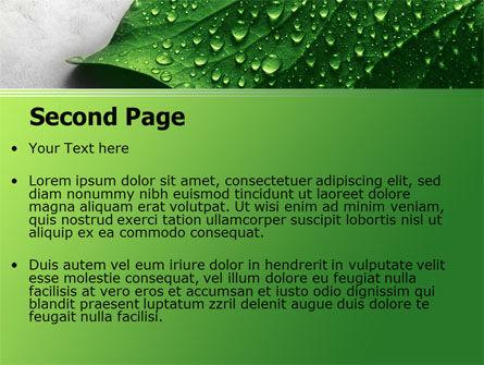 Wet Leaf PowerPoint Template, Slide 2, 07892, Nature & Environment — PoweredTemplate.com