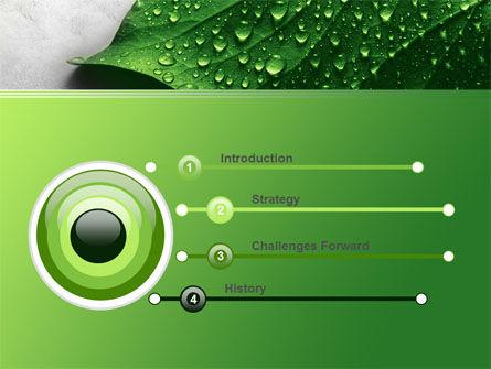 Wet Leaf PowerPoint Template, Slide 3, 07892, Nature & Environment — PoweredTemplate.com
