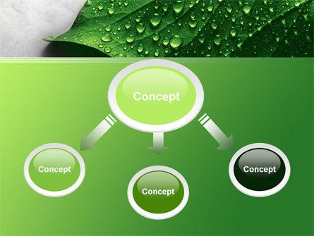 Wet Leaf PowerPoint Template, Slide 4, 07892, Nature & Environment — PoweredTemplate.com