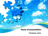 Business Concepts: Puzzle Of The Sky PowerPoint Template #07893