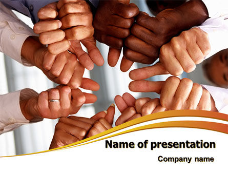 Thumbs Up Team PowerPoint Template, 07894, Consulting — PoweredTemplate.com