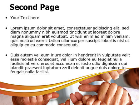 Thumbs Up Team PowerPoint Template Slide 2