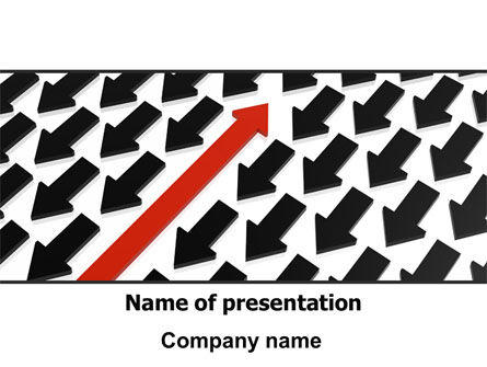 Business Concepts: Plantilla de PowerPoint - en contra #07895