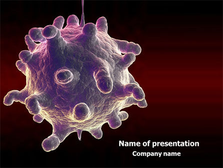 Medical: Bio Virus PowerPoint Template #07899