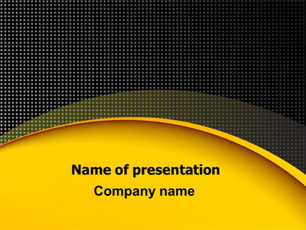 Yellow Arch Theme PowerPoint Template