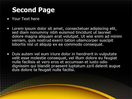 Yellow Arch Theme PowerPoint Template, Slide 2, 07900, Abstract/Textures — PoweredTemplate.com