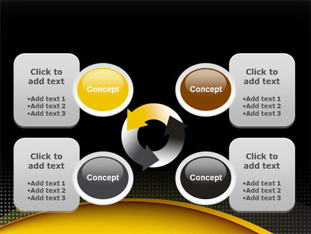 Yellow Arch Theme PowerPoint Template Slide 9