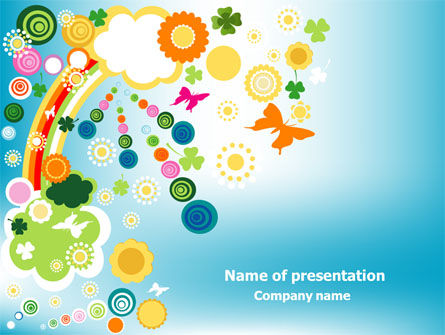 Rainbow Splash PowerPoint Template