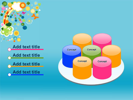 Rainbow Splash PowerPoint Template Slide 12