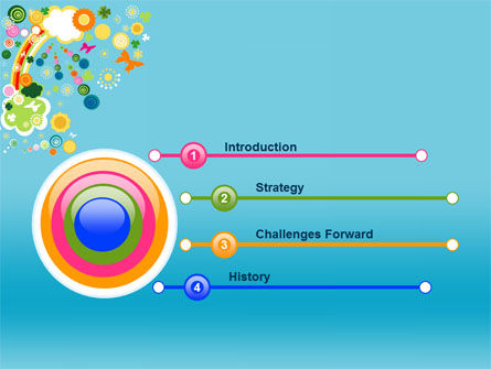Rainbow Splash PowerPoint Template Slide 3