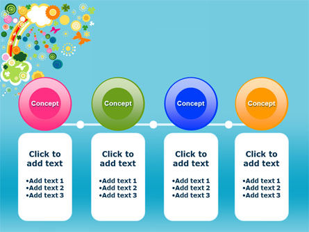 Rainbow Splash PowerPoint Template Slide 5