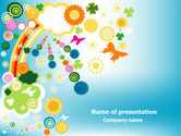 Holiday/Special Occasion: Rainbow Splash PowerPoint Template #07902
