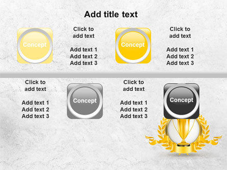 Golden Cup PowerPoint Template Slide 19