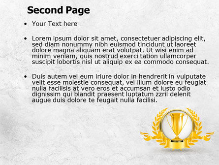 Golden Cup PowerPoint Template Slide 2
