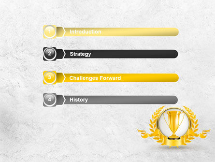 Golden Cup PowerPoint Template, Slide 3, 07905, Careers/Industry — PoweredTemplate.com