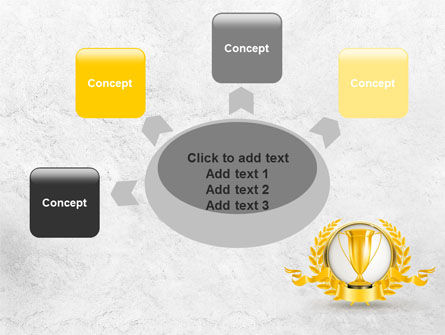 Golden Cup PowerPoint Template Slide 7