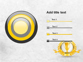 Golden Cup PowerPoint Template#9