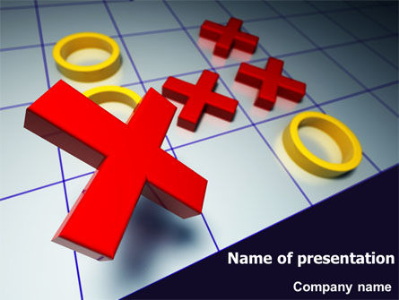 Crosses And Zeros PowerPoint Template