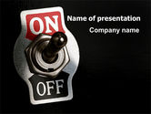 Business: Switch On PowerPoint Template #07908
