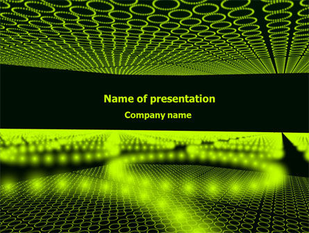 Abstract/Textures: Glowing Green Circles PowerPoint Template #07909